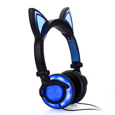 Super Adorable Glowing Cat-Ear Gaming Headphones