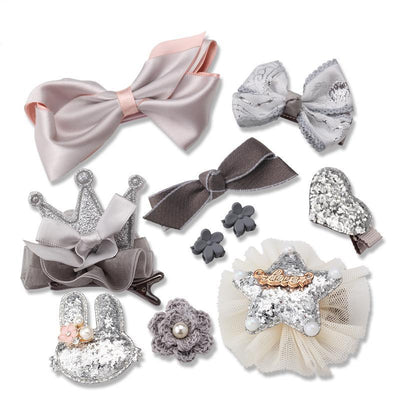 Adorable 10-Piece Hair Clips Set