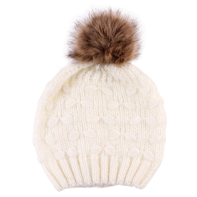 Adorable Pom-Pom Beanies - Adult Individual and Parent-Child Set
