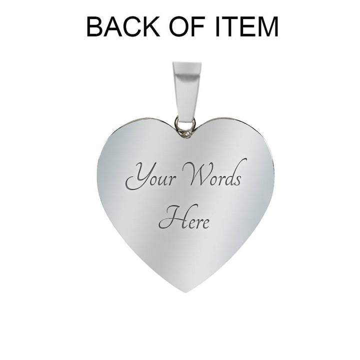 From Daddy to HIS Princess! Daddy Loves You Message - Necklace & Heart Pendant
