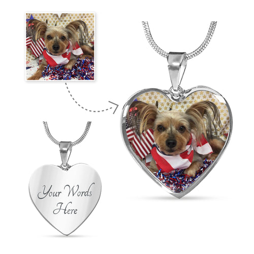 Personalized Heart Pendant and Chain or Bangle Bracelet - Upload Your Own Photo