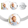 Add a Photo and Personalize It! - Stainless Steel Bracelet & Circle Charm