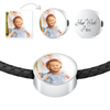 Add a Photo and Personalize It! - Leather Bracelet & Circle Charm
