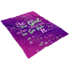 """Be the Girl who Decided to Go for It"" - Fleece Blanket"