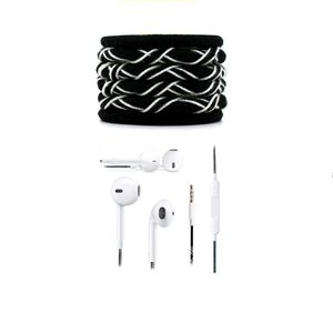 Fuego Designer Series 3.5mm Universal in-Ear Earphones with Mic and Volume Control (Black-White)