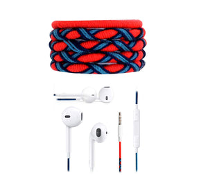 Fuego Designer Series 3.5mm Universal in-Ear Earphones with Mic and Volume Control (Peach-Blue)