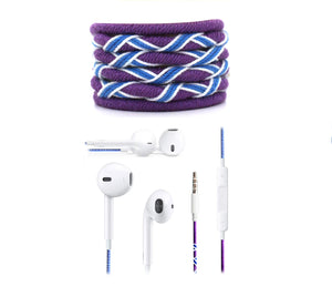 Fuego Designer Series 3.5mm Universal in-Ear Earphones with Mic and Volume Control (Purple-Blue)