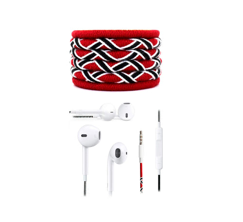 Fuego Designer Series 3.5mm Universal in-Ear Earphones with Mic and Volume Control (Red-Black)