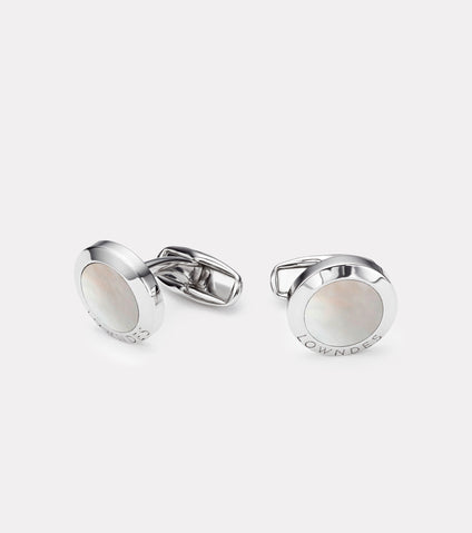 Lowndes Classic Stone Cufflinks