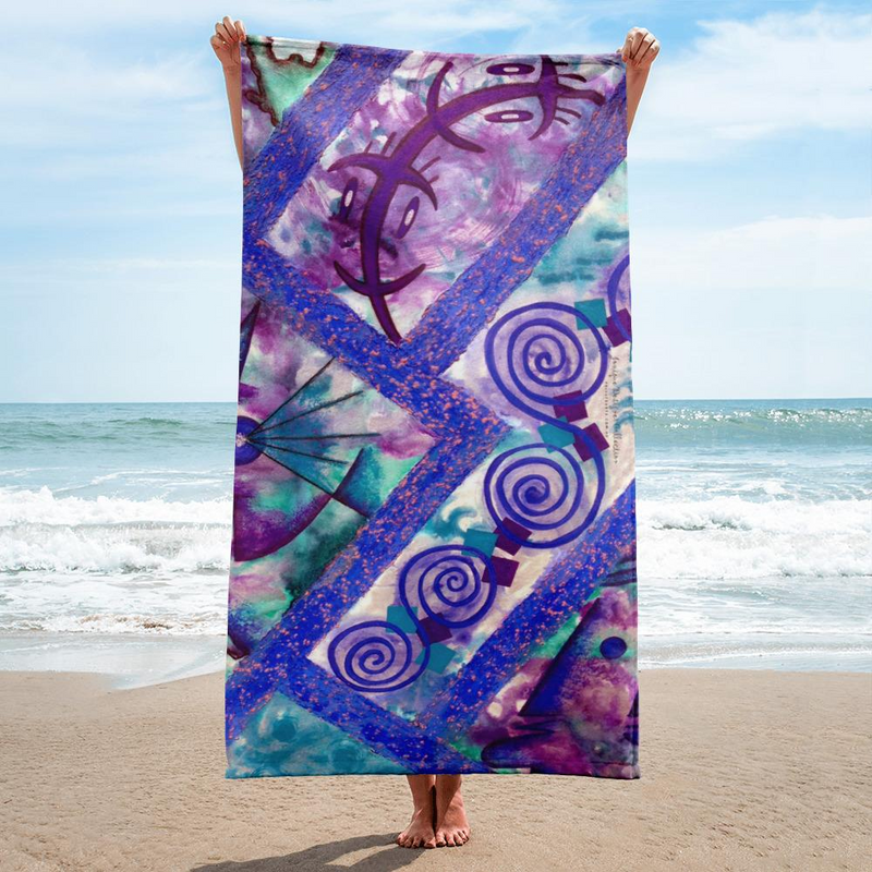 Beach Towel Boho Designer Jonique Look-@-Mee Blu