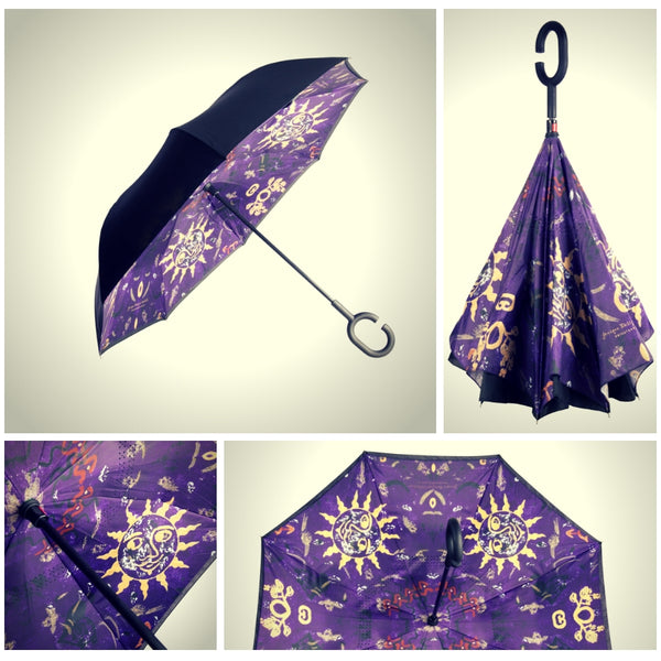 Jonique Designer Umbrellas Reverse C Handle