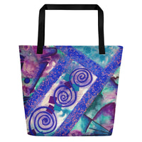Jonique Look-@-Mee Blu Beach Tote Back