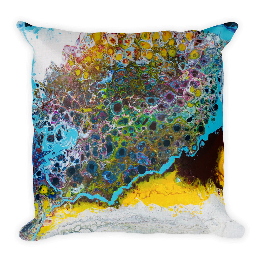Cushion Square Designer Jonique Waterlillies Front