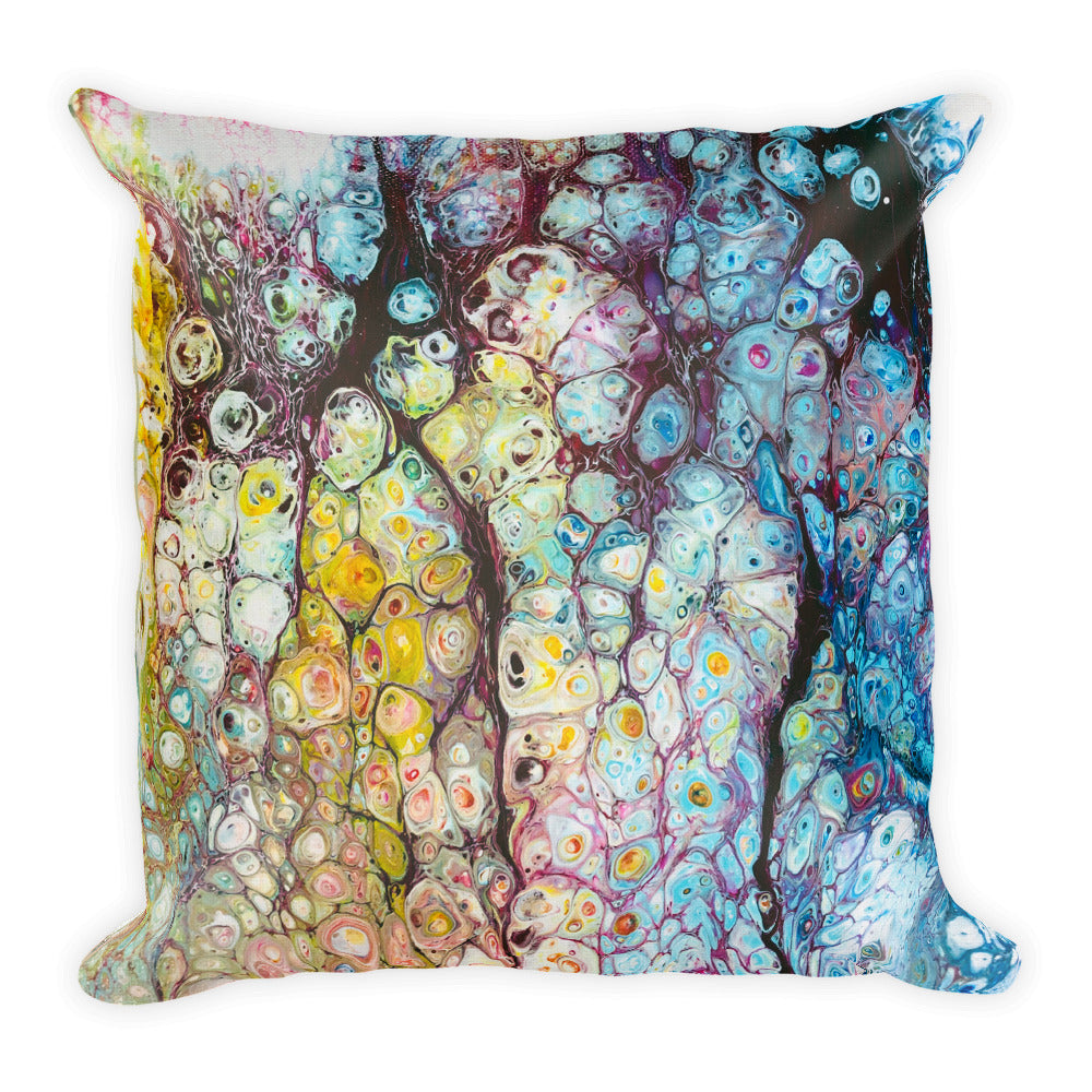 Cushion Square Designer Jonique Waterlillies Back