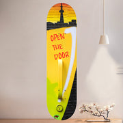The City Life Skateboard Wall Art with Mounts included. (1pcs)