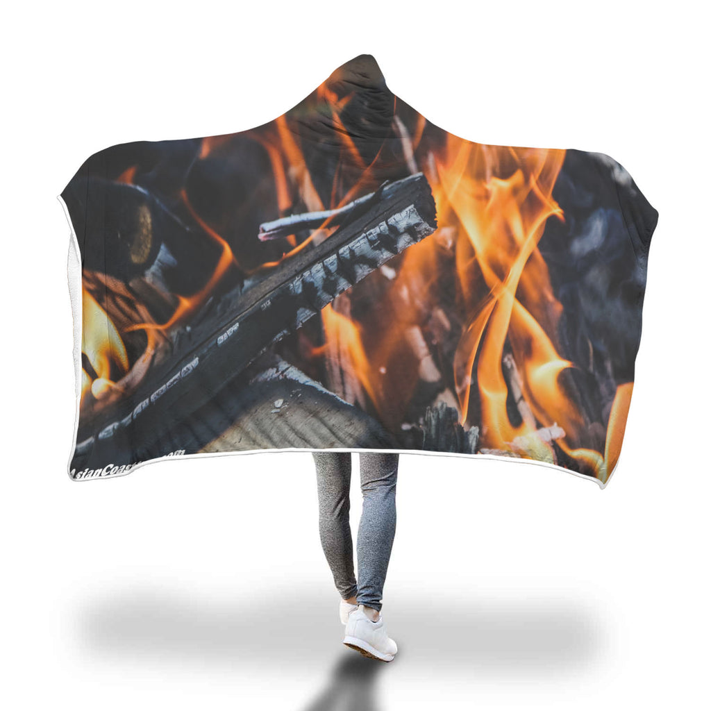 Camp Fire Premium Hooded Blanket