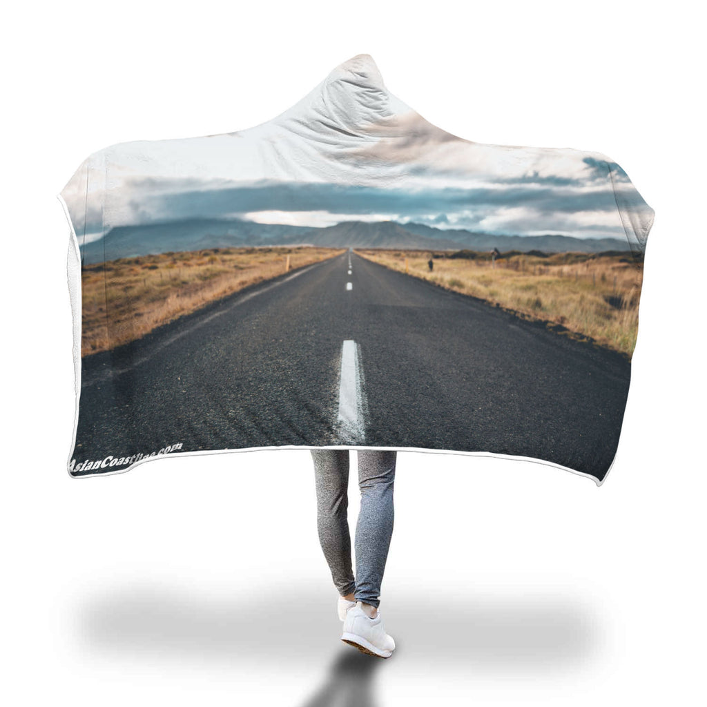 Road Trip Premium Hooded Blanket