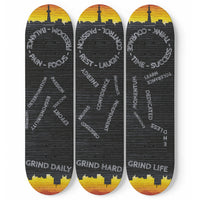 Grind Daily Skateboard Set - Wall Mounts included (3pcs)