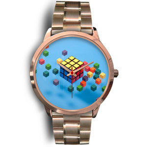 Cube Decoded Gold Fashion Watch
