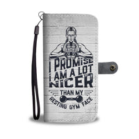 Resting Gym Face RFID Protection Hybrid Wallet