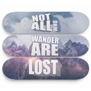 Not All Are Lost Wall Mounted Designed Skateboards (3pcs)