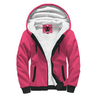 Scented Rose Sherpa Front Zipper Hoodie