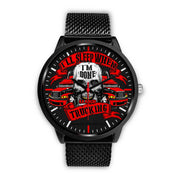 Big Truck Driver Premium Black Collectors Fashion Watch