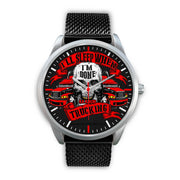 Truck Driver Premium Collectors Fashion Silver Watch