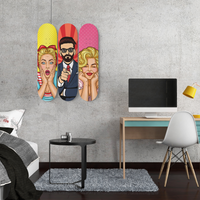 Strike a Pose Wall Mounted Designed Skateboards (3pcs)