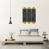 Grind Daily Skateboard Wall Art Set with Mounts included (3pcs)