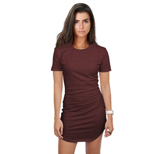 Best Life Skirt Shirt in Crimson Red