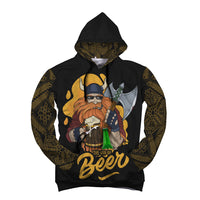 Beer God Drink Holding Unisex Hoodie with bottle opener