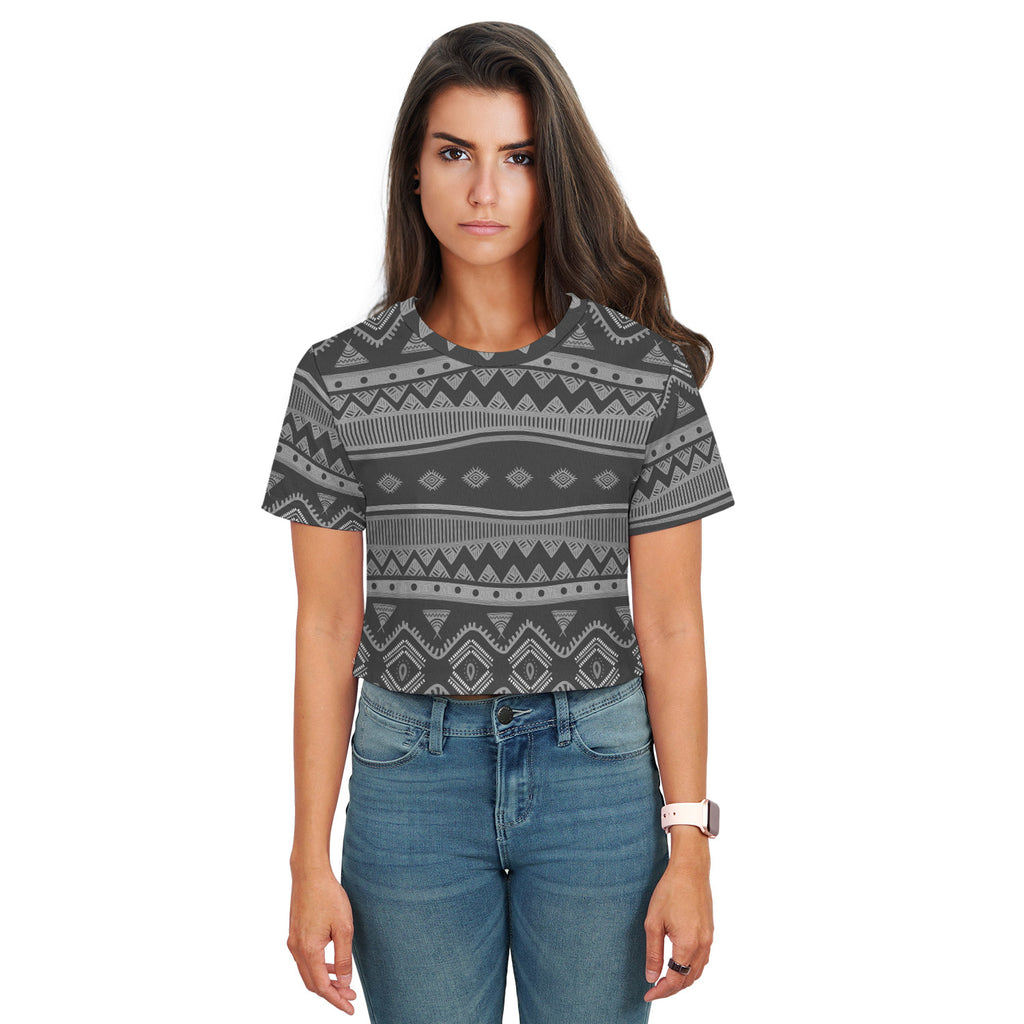 Edgy Grey Crop Top t-Shirt