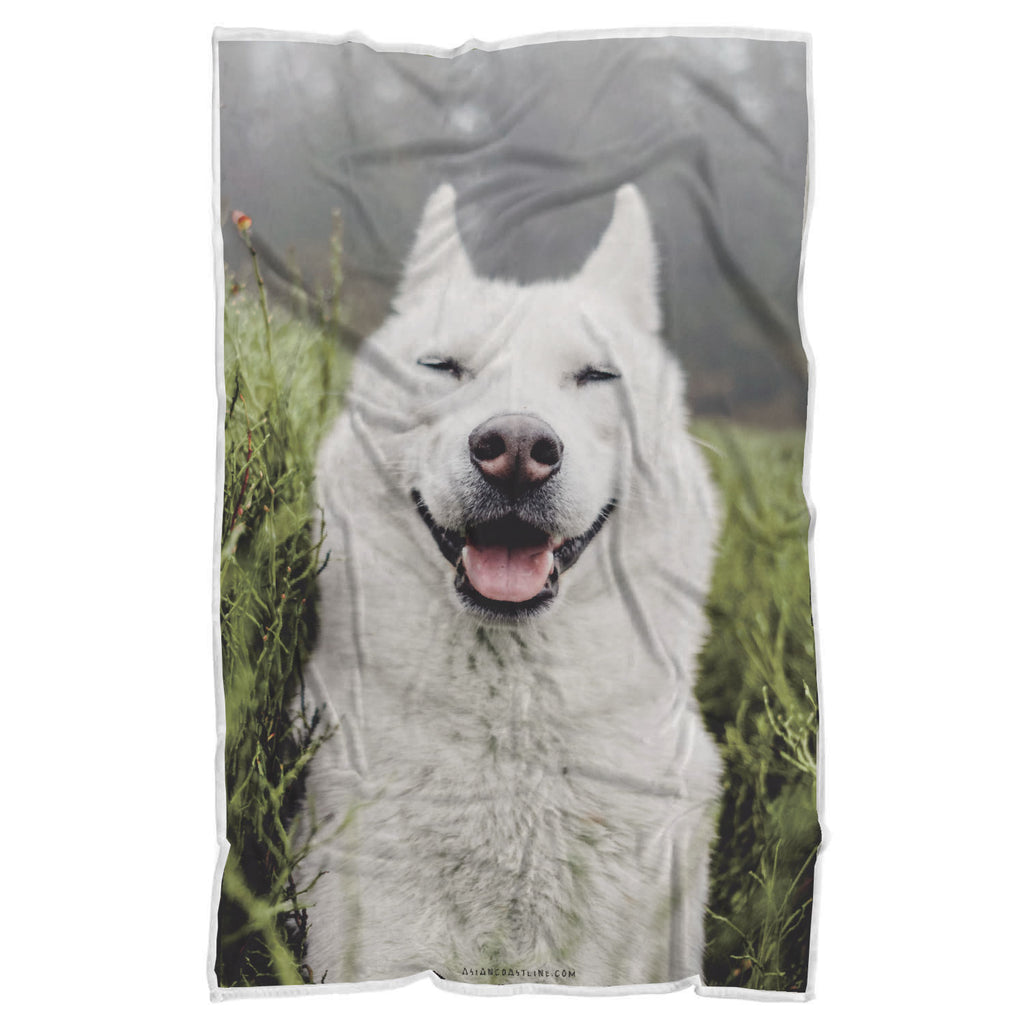 Casper the Doggo Premium Sherpa Blanket