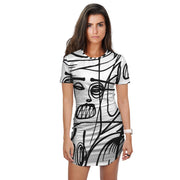Graffiti Extra Long White Night Shirt