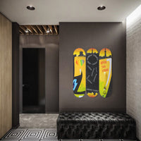 Grind Hard Skateboard Wall Art with Mounts included (1pcs)