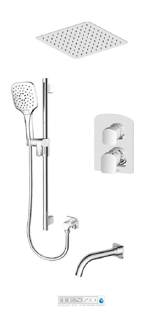 DELANO COLLECTION T-Box shower set, 3 functions DEPB33-511645-CR