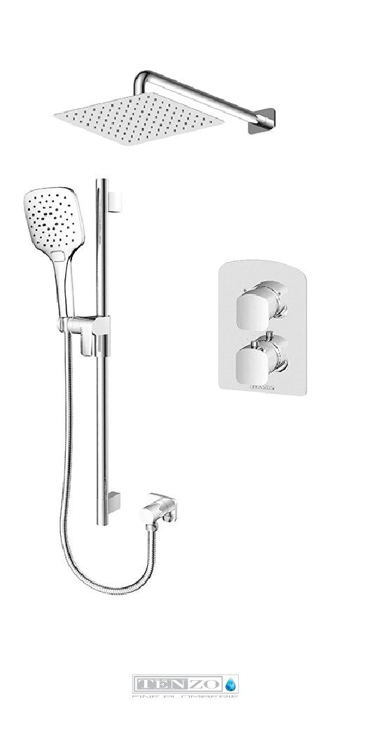 DELANO COLLECTION Shower kit, 2 functions thermostatic DET32-20111-CR