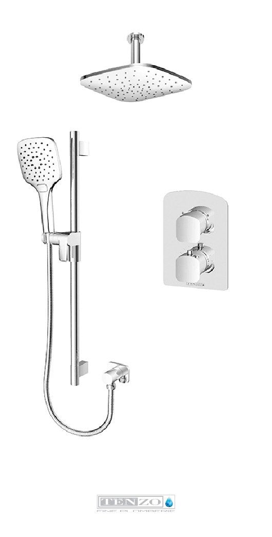 DELANO COLLECTION Shower kit, 2 functions thermostatic DET32-21134-CR