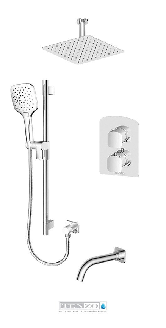 DELANO COLLECTION T-Box shower set, 3 functions thermostatic DET33-511315-CR
