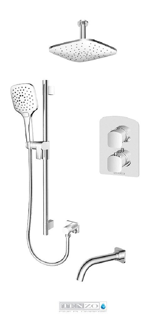 DELANO COLLECTION T-Box shower set, 3 functions thermostatic DET33-511345-CR
