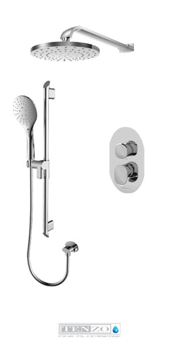 FLUVIA COLLECTION Shower kit, 2 functions FLPB32-20114-CR