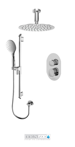 FLUVIA COLLECTION Shower kit, 2 functions FLPB32-21131-CR