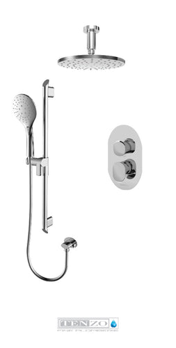 FLUVIA COLLECTION Shower kit, 2 functions FLPB32-21134-CR