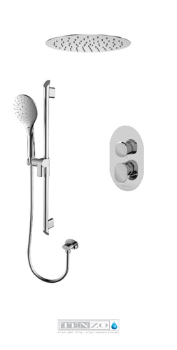 FLUVIA COLLECTION Shower kit, 2 functions FLPB32-21163-CR