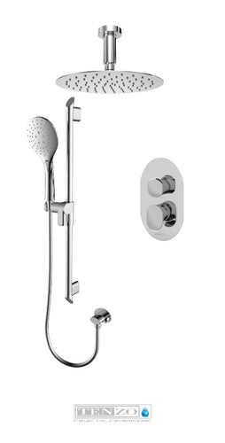 FLUVIA COLLECTION Shower kit, 2 functions FLPB32-21331-CR