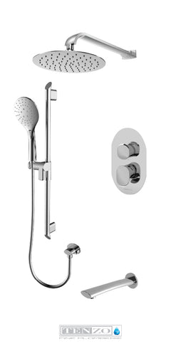 FLUVIA COLLECTION Shower kit, 3 functions FLPB33-501115-CR