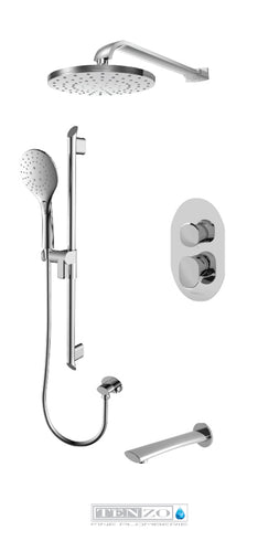 FLUVIA COLLECTION Shower kit, 3 functions FLPB33-501145-CR