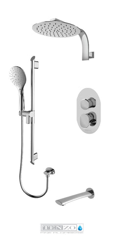 FLUVIA COLLECTION Shower kit, 3 functions FLPB33-501195-CR