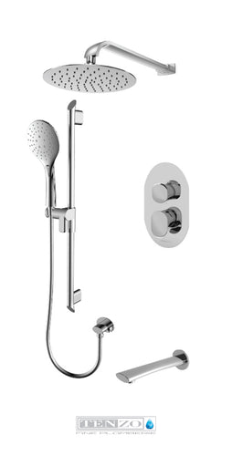 FLUVIA COLLECTION Shower kit, 3 functions FLPB33-503115-CR